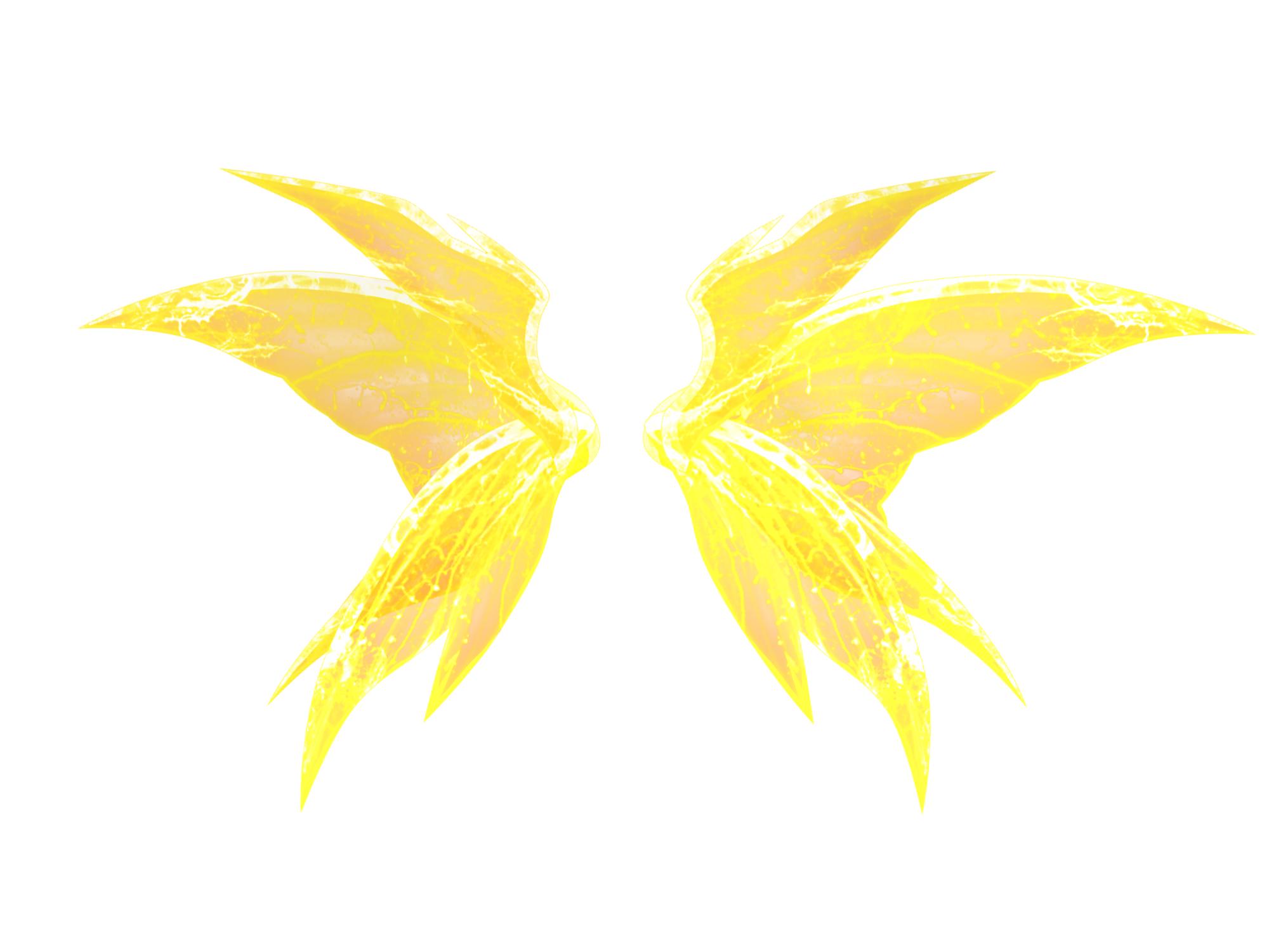 金色光芒翅膀